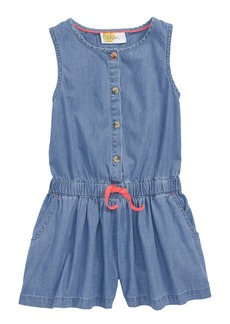 Mini Boden Sleeveless Denim Romper (Little Girls & Big Girls)