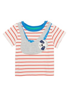 Mini Boden Sloth Appliqué T-Shirt (Baby Boys)