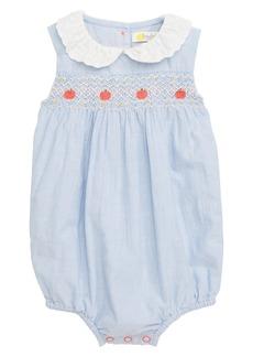 Mini Boden Smocked Bubble Romper (Baby Girls)