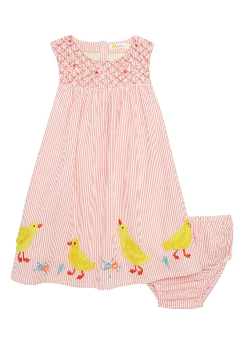 fa990641869 Mini Boden Smocked Chick Appliqué Dress (Baby Girls   Toddler Girls)