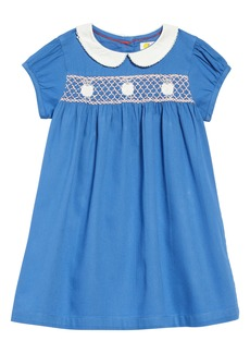 Mini Boden Smocked Dress (Toddler Girls)