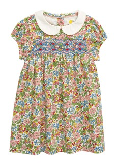 Mini Boden Smocked Floral Dress (Baby)