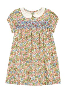 Mini Boden Smocked Floral Dress (Toddler Girls)