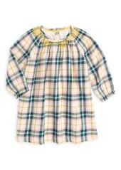 Mini Boden Smocked Winter Dress (Baby Girls & Toddler Girls)
