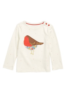 Mini Boden Snowy Friends Appliqué Tee (Baby & Toddler Girls)