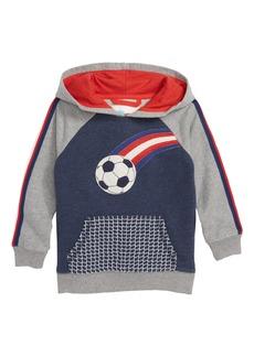 Mini Boden Soccer Appliqué Hoodie (Toddler Boys, Little Boys & Big Boys)