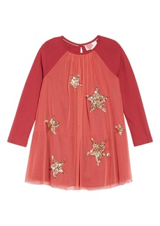Mini Boden Sparkle Mesh Dress (Toddler Girls, Little Girls & Big Girls)