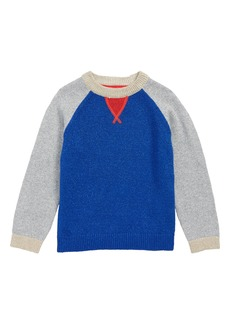 Mini Boden Sparkle Raglan Sweater (Little Girls & Big Girls)