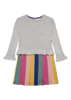 Mini Boden Sparkly Party Sweater Dress (Toddler Girls, Little Girls & Big Girls)