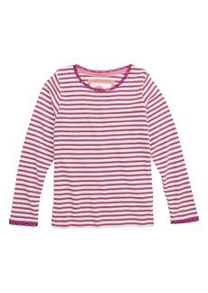 Mini Boden Sparkly Pointelle Tee (Toddler Girls, Little Girls & Big Girls)