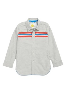 Mini Boden Sporty Stripe Shirt (Little Boys & Big Boys)