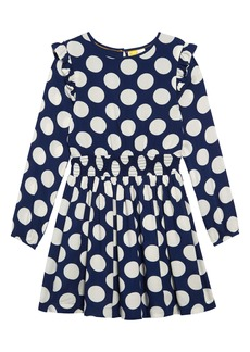 Mini Boden Spotty Long Sleeve Dress (Toddler Girls, Little Girls & Big Girls)