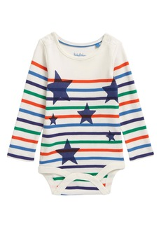 Mini Boden Star Stripe Bodysuit (Baby)