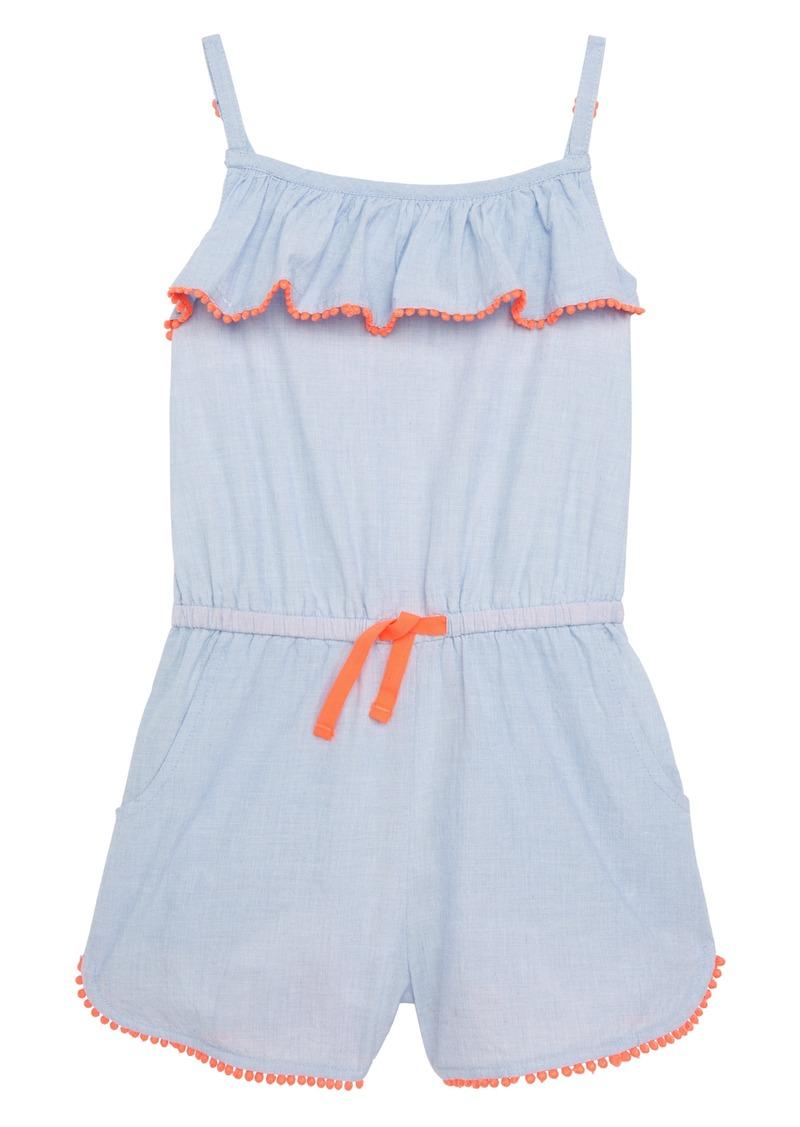 5a1e9d093ca Mini Boden Mini Boden Strappy Frill Romper (Little Girls   Big Girls ...