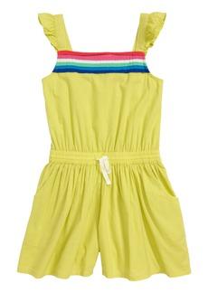 Mini Boden Strappy Woven Romper (Toddler Girls, Little Girls & Big Girls)