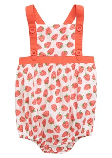Mini Boden Strawberry Woven Bubble Romper (Baby)
