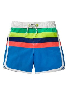 Mini Boden Stripe Board Shorts (Toddler Boys, Little Boys & Big Boys)