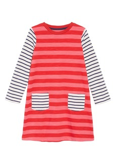 Mini Boden Stripe Jersey Dress (Toddler Girls, Little Girls & Big Girls)