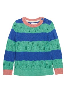 Mini Boden Stripe Knit Sweater (Toddler Girls, Little Girls & Big Girls)