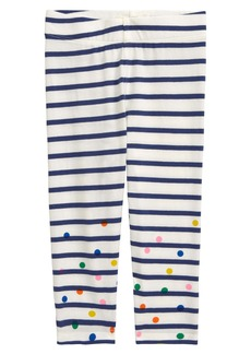 Mini Boden Stripe Leggings (Baby)