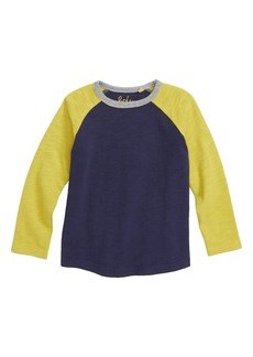 Mini Boden Stripe Raglan T-Shirt (Toddler Boys, Little Boys & Big Boys)