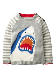 Mini Boden Stripe Shark Sweater (Toddler Boys, Little Boys & Big Boys)