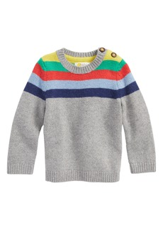 Mini Boden Stripe Sweater (Baby Boys)