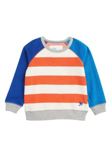 Mini Boden Stripe Towelling Sweatshirt (Toddler Boys, Little Boys & Big Boys)