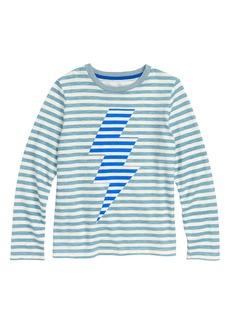 Mini Boden Stripy Bolt Icon T-Shirt (Toddler Boys, Little Boys & Big Boys)