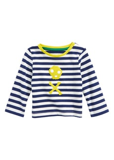 Mini Boden Stripy Crochet T-Shirt (Baby Boys & Toddler Boys)