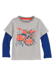 Mini Boden Stripy Drums T-Shirt (Toddler Boys, Little Boys & Big Boys)