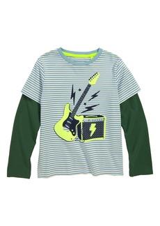 Mini Boden Stripy Guitar T-Shirt (Toddler Boys, Little Boys & Big Boys)