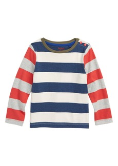 Mini Boden Stripy Hotchpotch T-Shirt (Baby Boys)