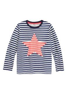 Mini Boden Stripy Icon Stripe T-Shirt (Toddler Boys, Little Boys & Big Boys)
