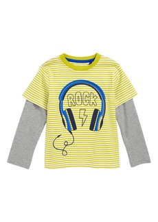 Mini Boden Stripy Music T-Shirt (Toddler Boys, Little Boys & Big Boys)