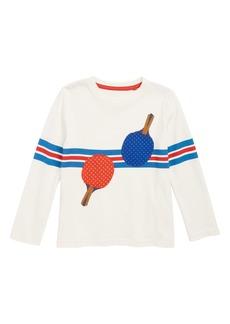 Mini Boden Stripy Ping Pong Sports T-Shirt (Toddler Boys, Little Boys & Big Boys)