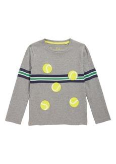 Mini Boden Stripy Tennis Sports T-Shirt (Toddler Boys, Little Boys & Big Boys)