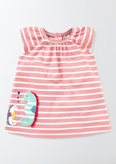 Mini Boden Summer Appliqué Dress (Baby Girls & Toddler Girls)