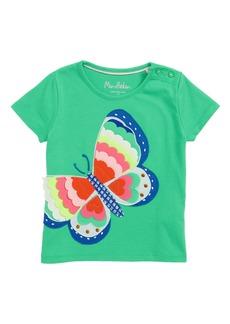 Mini Boden Summer Interest Butterfly Appliqué Tee (Toddler Girls, Little Girls & Big Girls)