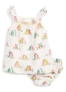 Mini Boden Summer Smocked Dress (Baby Girls)
