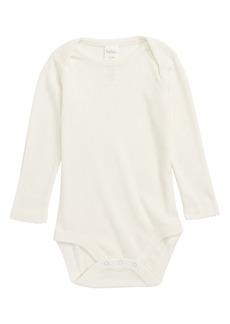 Mini Boden Supersoft Pointelle Bodysuit (Baby Girls & Toddler Girls)