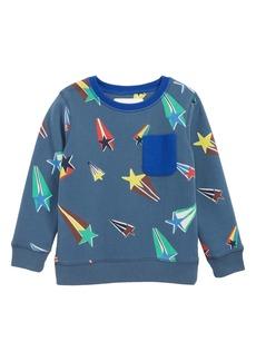 Mini Boden Superstar Pocket Sweatshirt (Toddler Boys, Little Boys & Big Boys)