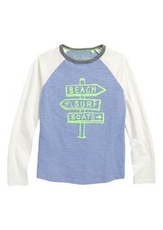 Mini Boden Surf Graphic Raglan Shirt (Toddler Boys, Little Boys & Big Boys)