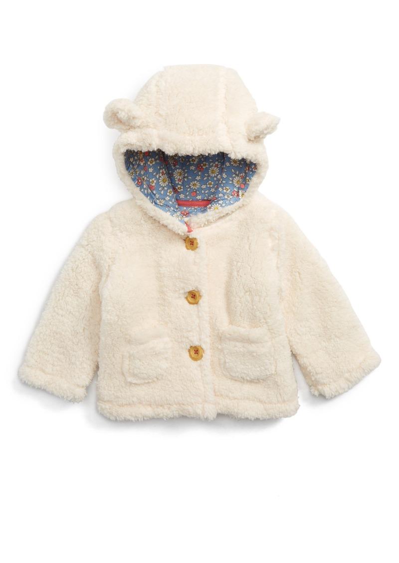 Mini Boden Mini Boden Teddy Bear Hooded Jacket Baby Girls