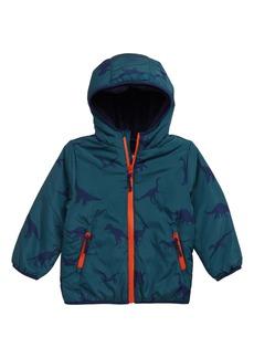 Mini Boden Teddy Fleece Lined Hooded Jacket (Toddler Boys, Little Boys & Big Boys)