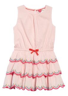 Mini Boden Tiered Ruffle Dress (Toddler Girls, Little Girls & Big Girls)