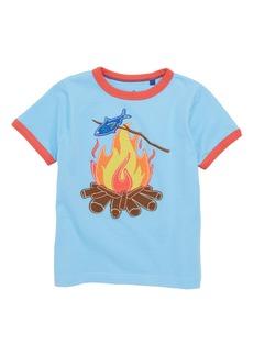 Mini Boden Tipped Appliqué Shirt (Toddler Boys, Little Boys & Big Boys)