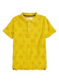 Mini Boden Towelling Polo Shirt (Toddler, Little Boy & Big Boy)