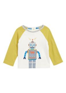 Mini Boden Toy Robot Appliqué T-Shirt (Baby Boys & Toddler Boys)
