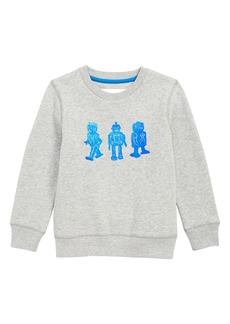 Mini Boden Toy Robot Sweatshirt (Toddler Boys, Little Boys & Big Boys)
